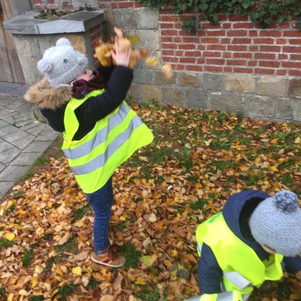 Kikkerklas: Thema herfst - regenweer