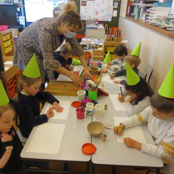 'Lezen is een feest' in de giraffenklas