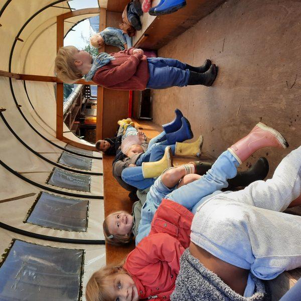 De uiltjesklas naar de kinderboerderij