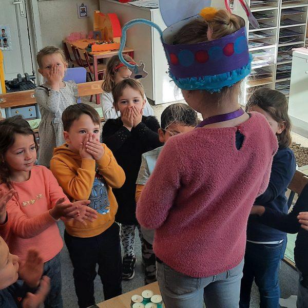 Thema sneeuwwitje en de 7 dwergen in de uiltjesklas