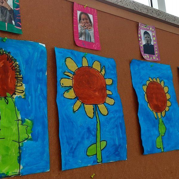 Thema zonnebloemen