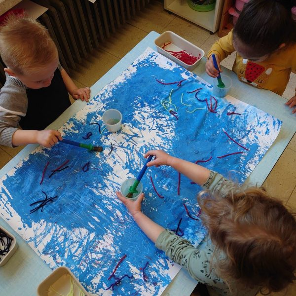 Dolfijnenklas: Met touwen en lintjes op ontdekking in de nieuwe klas!