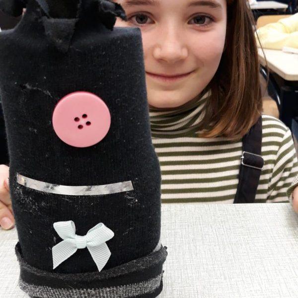 Een beeld van een sok